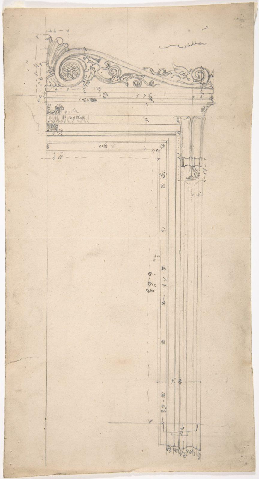 Design for a Door Frame, for 37 Tavistock Place, London