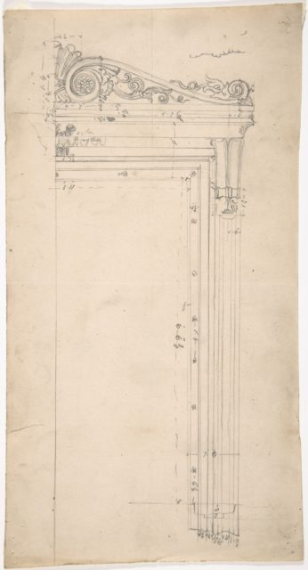 Design for a Door Frame, for 37 Tavistock Place, London