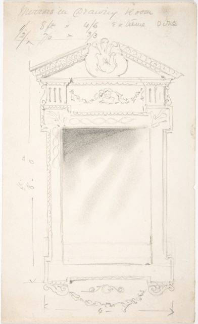 Design for a Drawing Room Mirror, for 11 Princes Gate, London