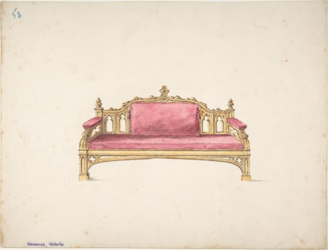 Design for a Gothic Settee