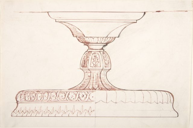 Design for a Metal Footed Vessel (for liturgical use?)