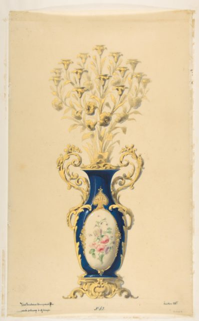 Design for a Porcelain Candelabra with Nine Branches