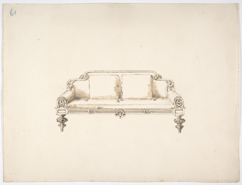 Design for a Sofa with Two Loose Cushions