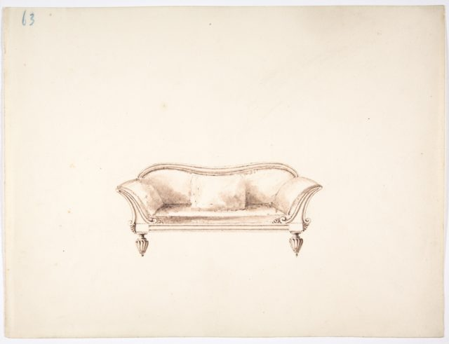 Design for a Sofa with Wing-like Arms