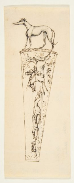 Design for a Vessel with Hunting Scenes