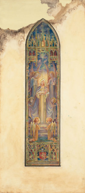 Design for a window, Mr. J.C. Meredith, St. Paul's Cathedral, London, Ontario, Canada