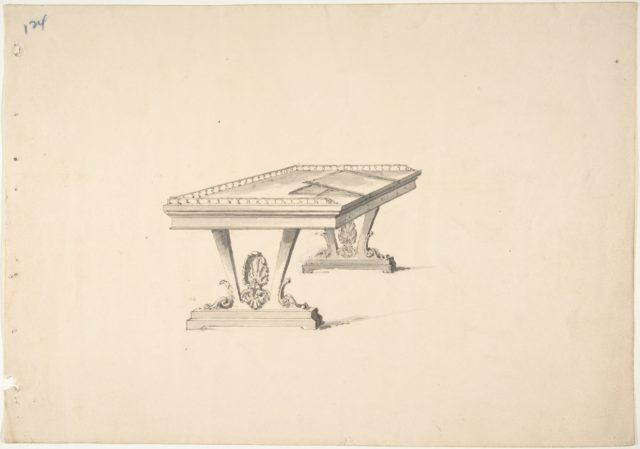 Design for a Work Table with a Railing