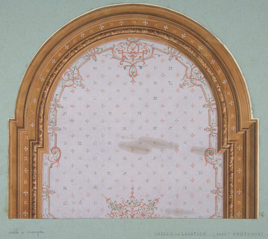 Design for ceiling decoration in a house on the Boulevard Haussmann