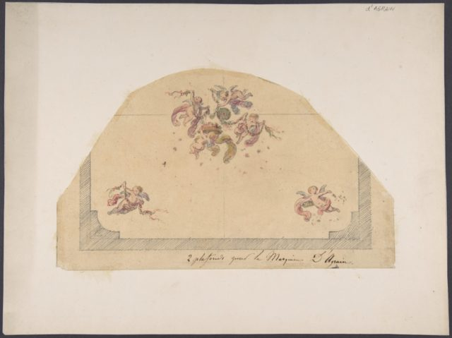 Design for Ceiling with Cherubs