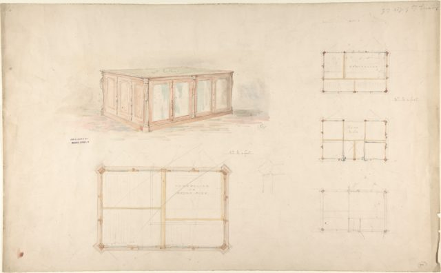 Design for desk and/or portfolio cabinet