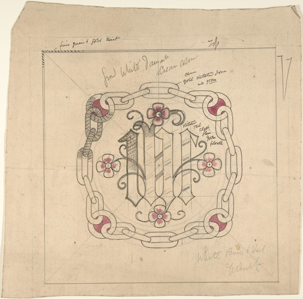 Design for Ecclesiastical Embroidery -- Veil and Bun