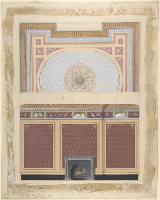 Design for Fireplace Wall and Ceiling