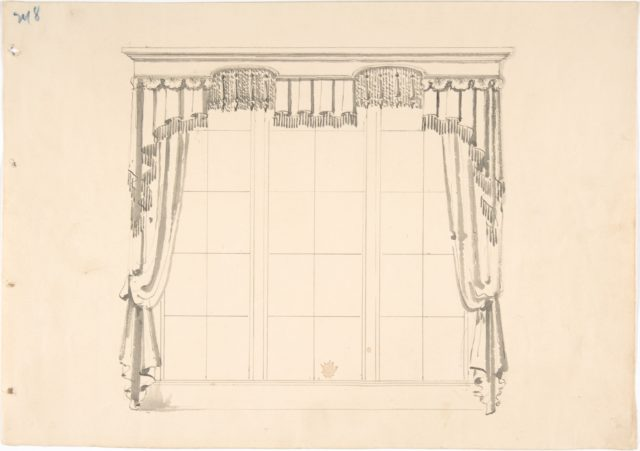 Design for Fringed Curtains