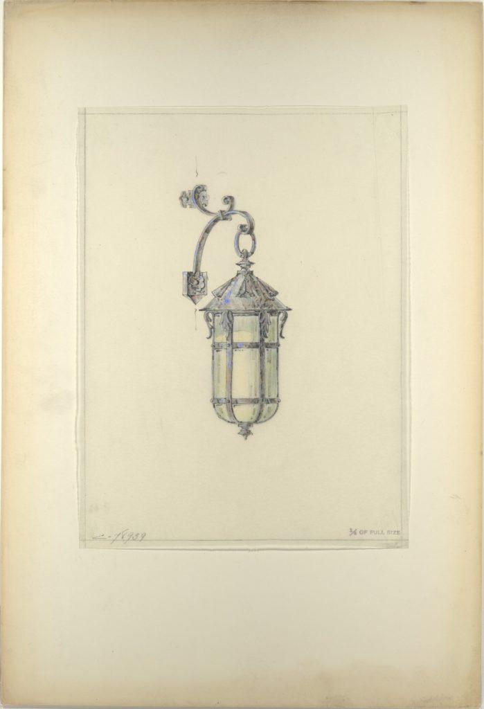 Design for hanging wall-mounted lantern