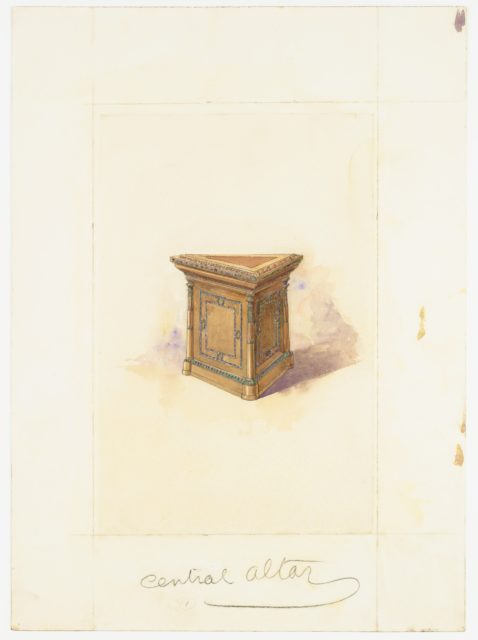 Design for the Central Altar for Scottish Rite, N.Y.