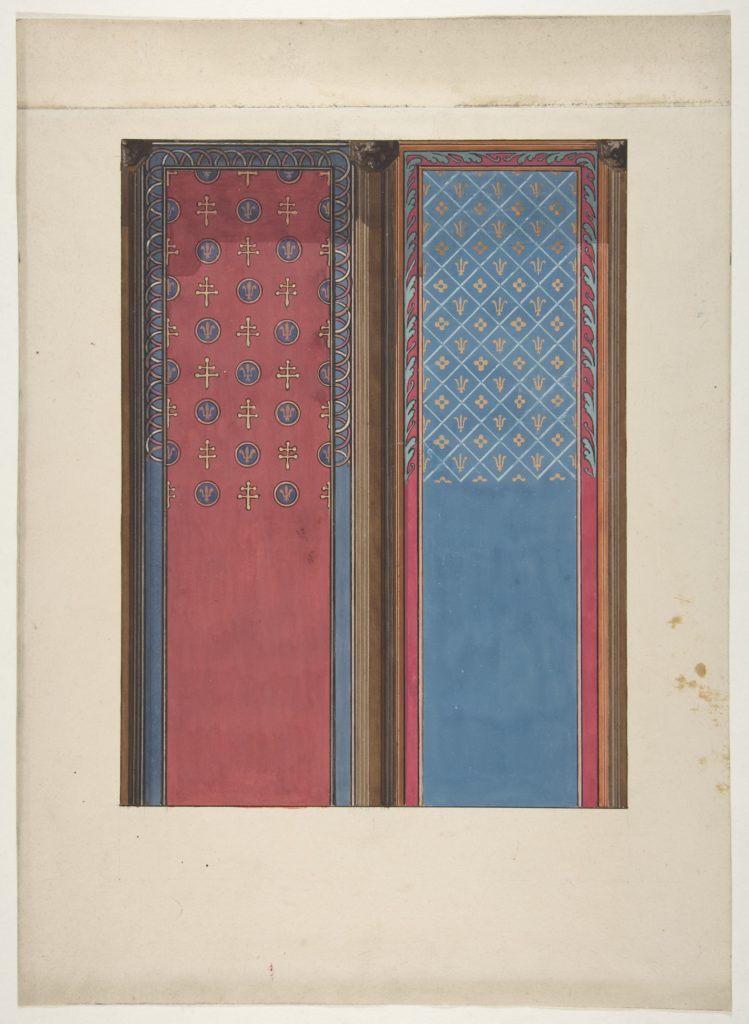 Design for the painted decoration of panels