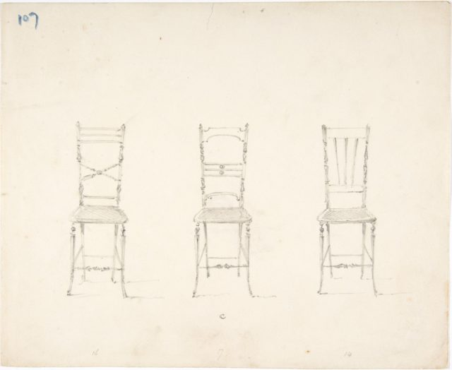 Design for Three Slender Chairs