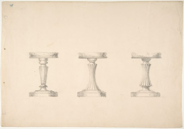 Design for Three Stools with Columnar Supports