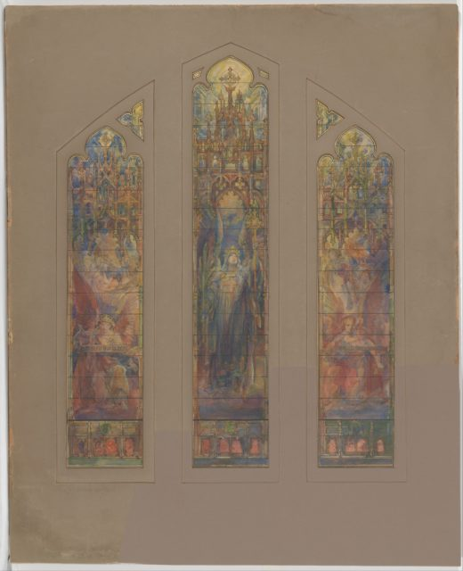 Design for triple lancet window