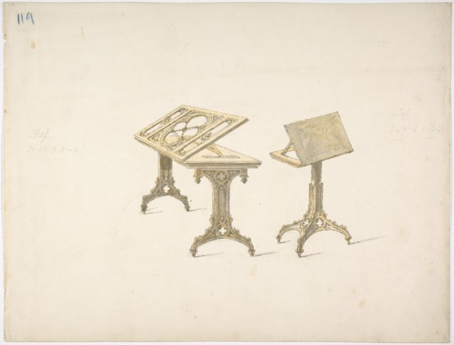 Design for Two Bookstands on Casters
