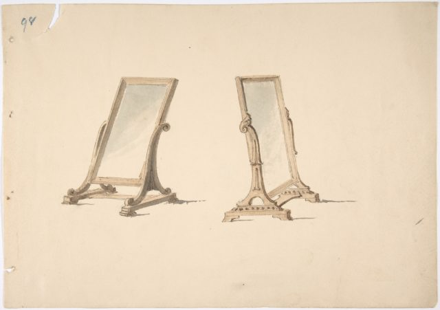 Design for Two Plain Tabletop Mirrors