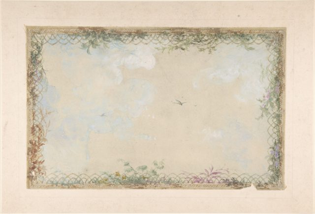 Designs for Ceilings with Clouds and Birds