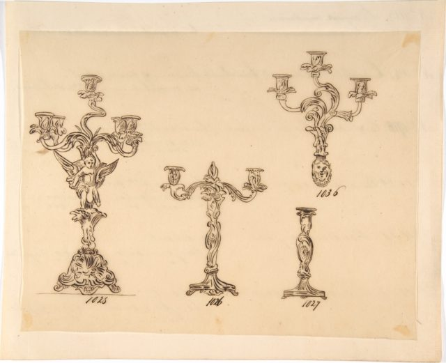 Designs for Four Candle Fixtures