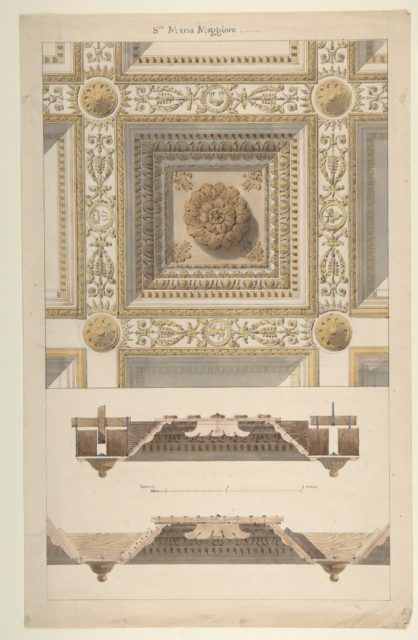 Details of the Coffered and Beamed Ceiling in Santa Maria Maggiore, Rome