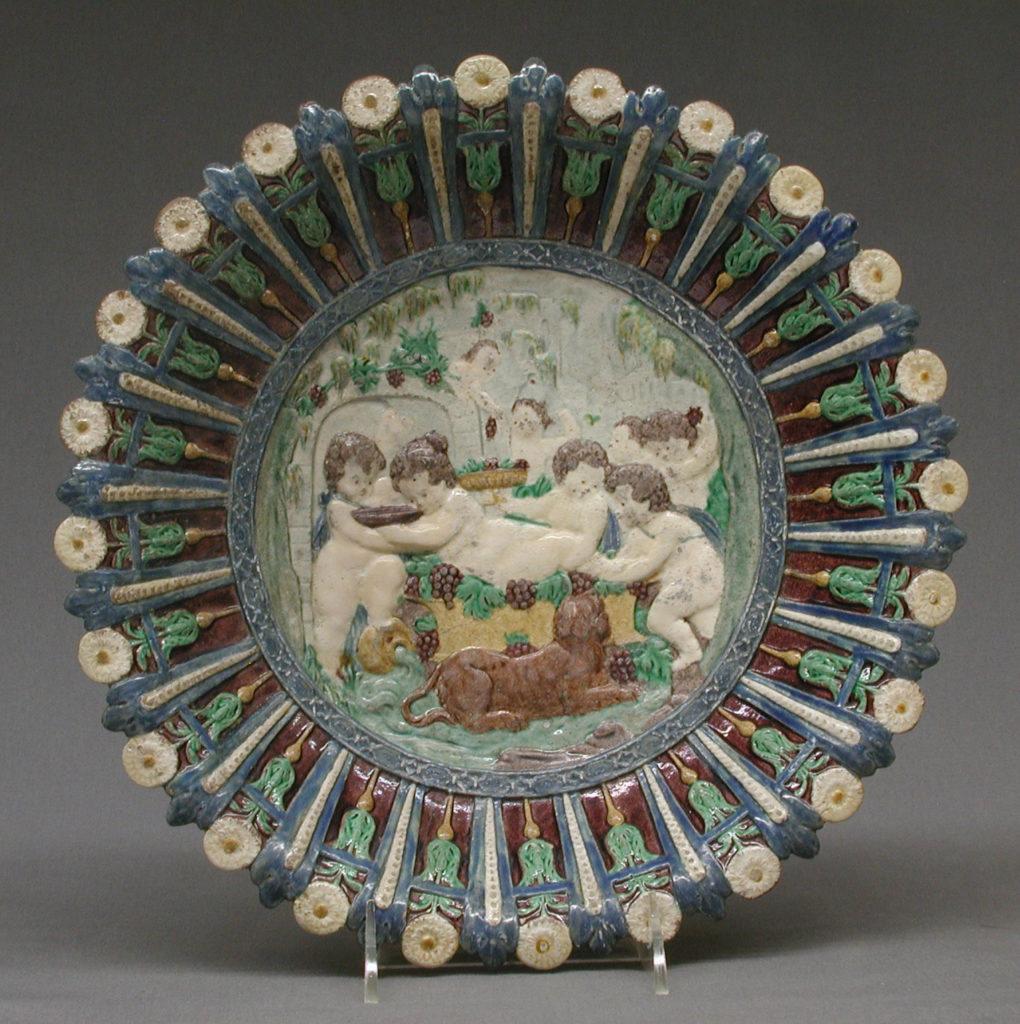 Dish with childhood of Bacchus