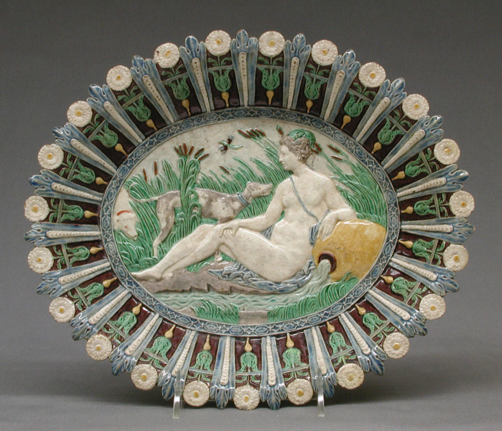 Dish with Diana, the Nymph of Fontainebleau