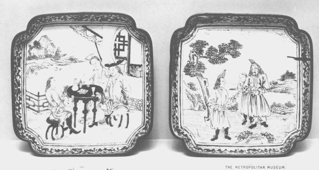 Dish with European Subject