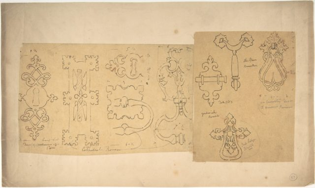 Door Knockers and Mounts from Rouen Cathedral, Goodwich Court, etc. (recto and verso)