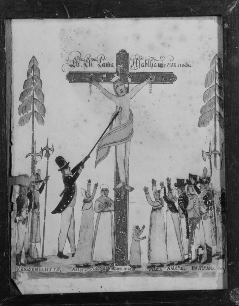 Drawing of the Crucifixion