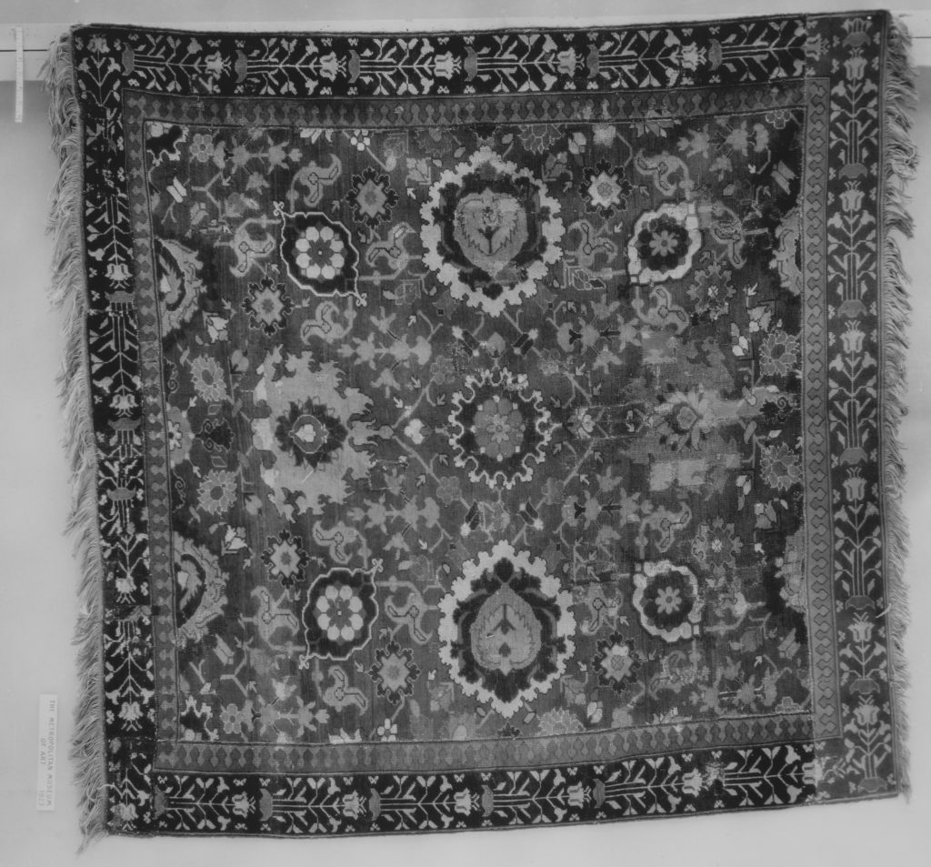 Fragment of a Red-Ground Harshang Carpet