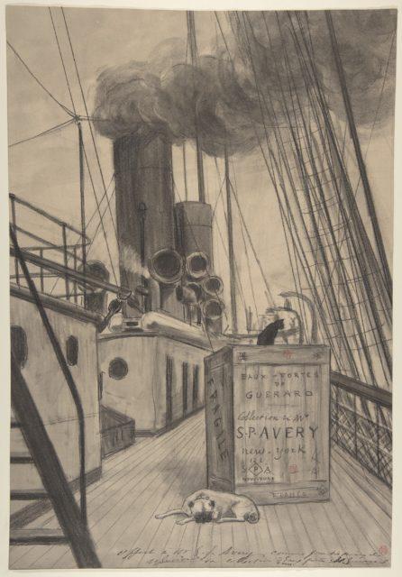 """Frontispiece for """"Eaux-fortes de Guérard, Collection de Mr. S. P. [Samuel Putnam] Avery, New York"""""""