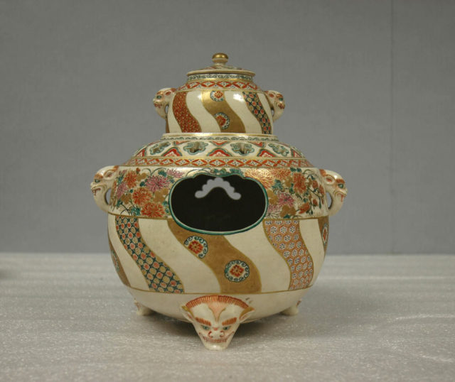 Incense Burner with Cover on Brazier