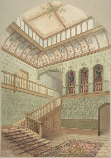 Interior showing Staircase and Skylight