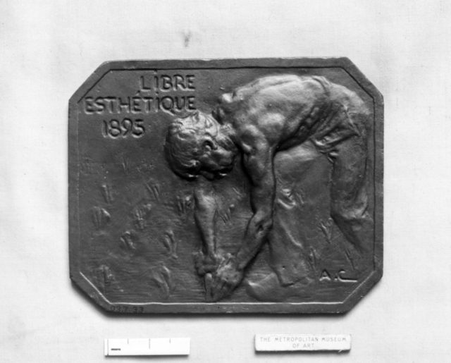 Jeton, or Ticket of Admission of the Libre Esthétique (Belgium), 1895
