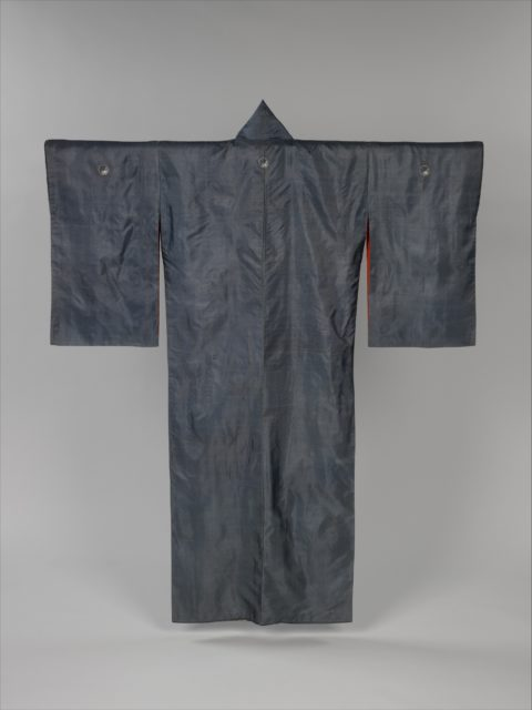 Kimono with Blossoming Plum Tree