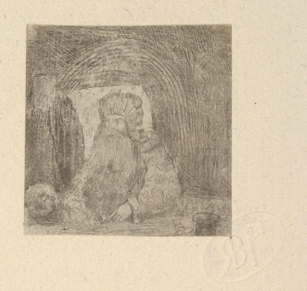 L'Ermite à la Tête de Mort (The Hermit with Skull)