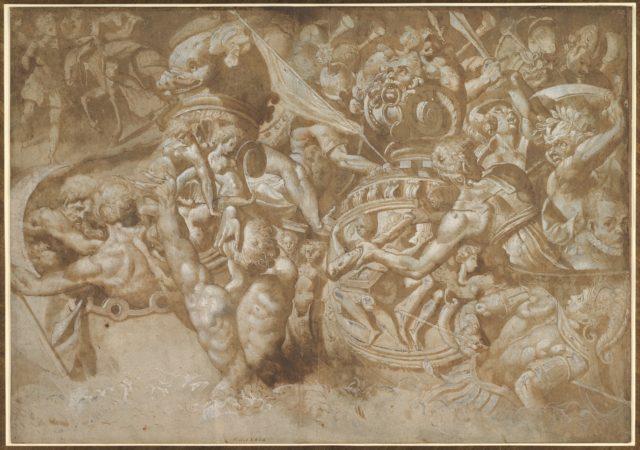 Naval Battle Between Mythological Forces