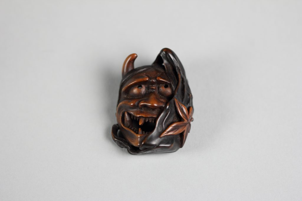 Netsuke of Demon Mask