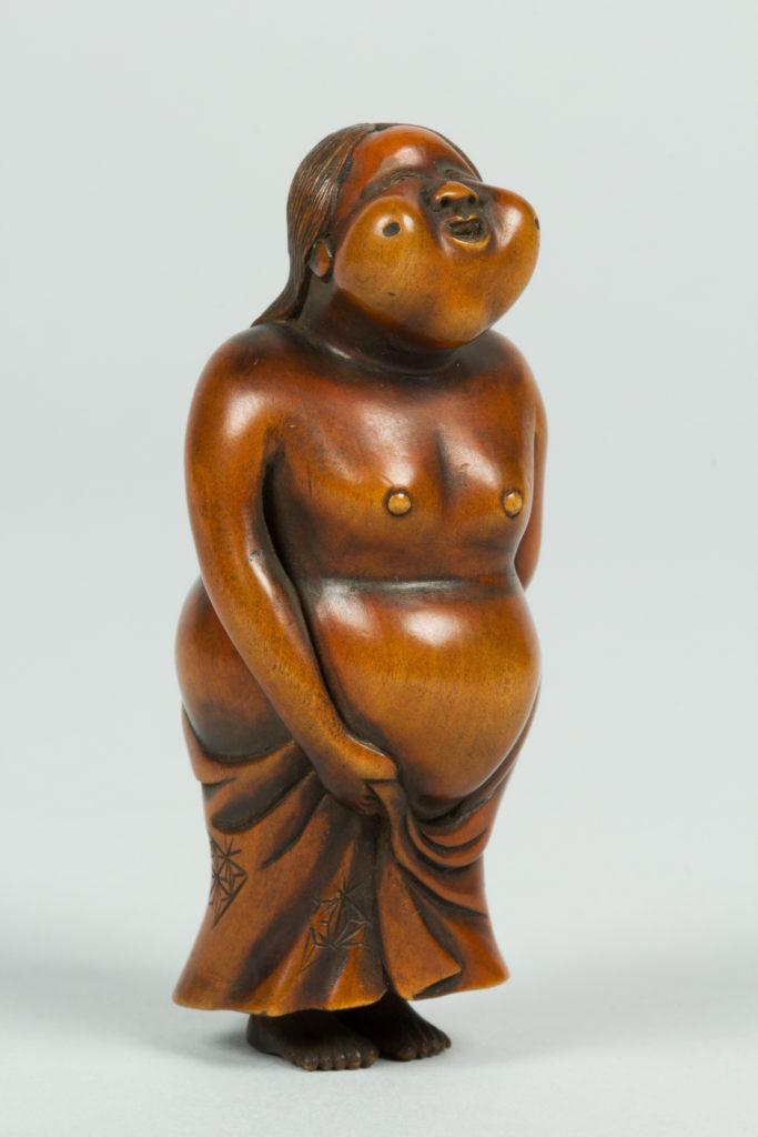 Netsuke of Female Figure