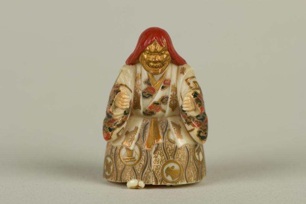 Netsuke of Noh Dancer
