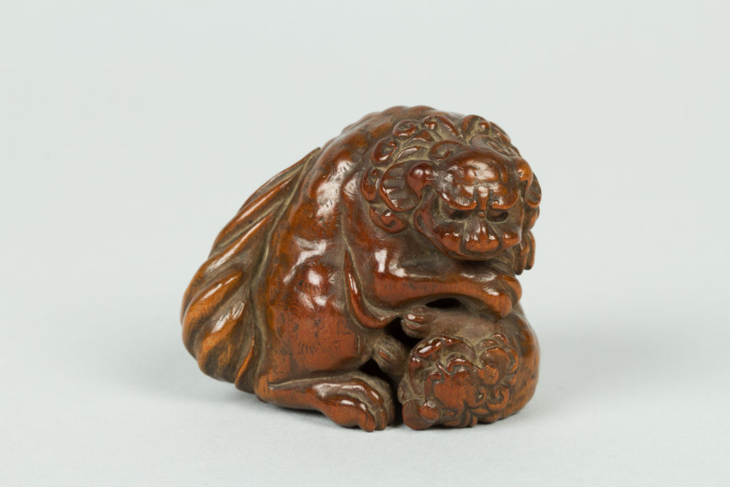 Netsuke of Qilin and Cub