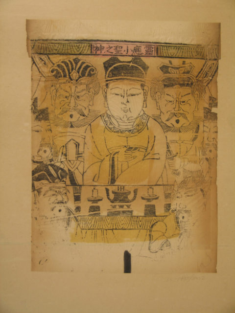 One hundred thirty-five woodblock prints including New Year's pictures (nianhua), door gods, historical figures and Taoist deities