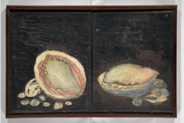 Original Woodblocks for the Servants of the Dragon King of the Sea: Fish and Shells (Tatsu no miyatsuko gyokai fu)