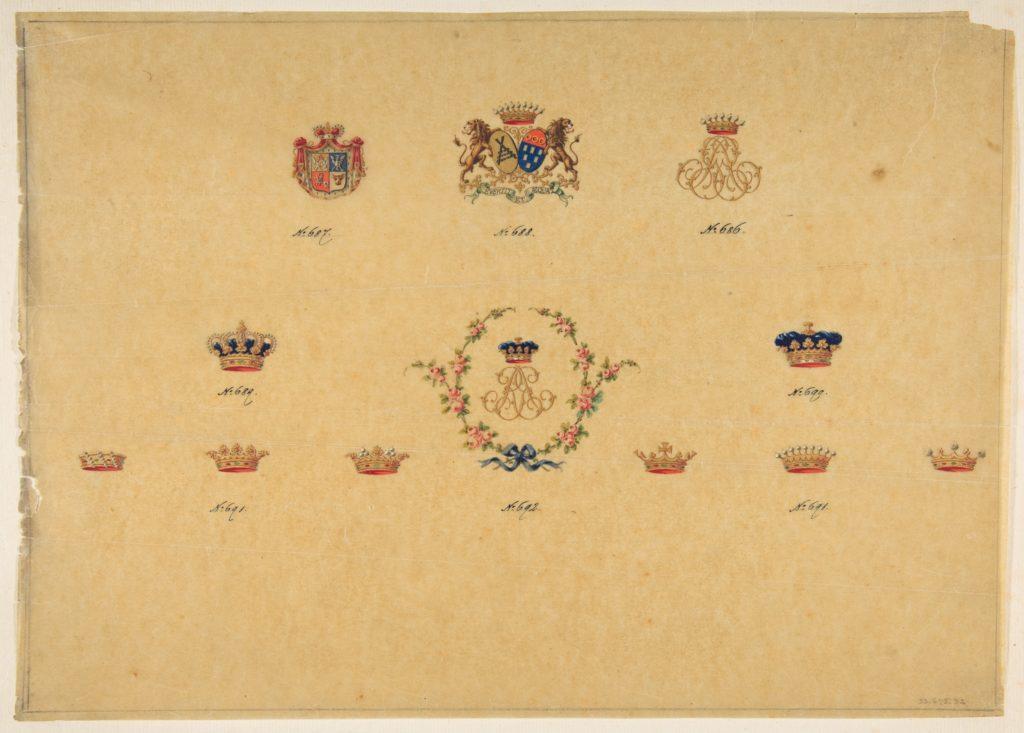 Sheet of Monogram Designs