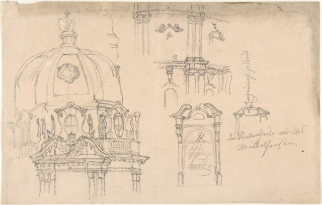 Studies of a monument