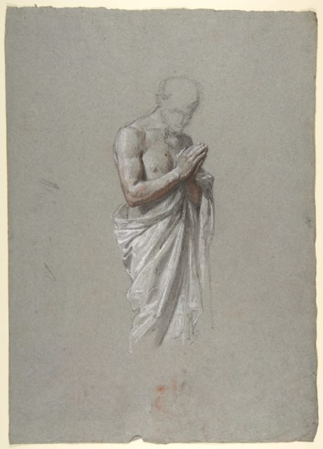 Study for Clovis (middle register; study for wall paintings in the Chapel of Saint Remi, Sainte-Clotilde, Paris, 1858)